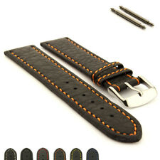 Men's Genuine Leather Replacement Watch Strap Band Kana 18 20 22 24 26 28 30mm
