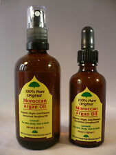 ARGAN OIL Moroccan 100% Pure Oil For All Dry Skin Problems Plus Hair Conditioner