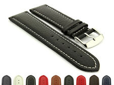 Extra Long Men's Genuine Leather Watch Strap Band Freiburg RM Spring Bars