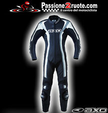 Axo Talon Evo Nero Tuta intera pelle moto Racing Leather Suit