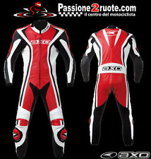 Axo Talon Evo rosso Nero r00 Tuta intera pelle moto Racing Leather Suit