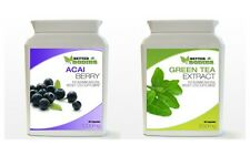 Acai Berry 1000mg & Green Tea Extract 850mg Capsules WeightLoss Diet Bottle Pack