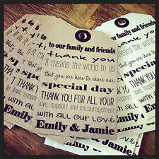 18 Vintage Shabby Chic 'Thank you' tags for weddings/birthdays/christenings etc