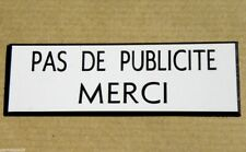 plaque gravee pas de publicite svp stop pub petit modele ebay. Black Bedroom Furniture Sets. Home Design Ideas