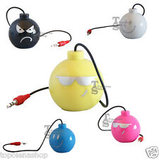 MINI SPEAKER BOMB USB CASSA PER IPOD IPHONE MP3 PC NOTEBOOK JACK 3.5 MM AUDIO