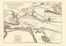 Old War Map - the Siege of Quebec 1759 - 23 x 33.45