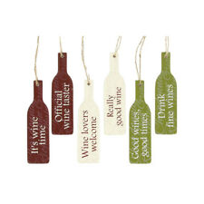 Wine Bottle Message Plaques  - Wine Lovers Wine Time Wine Taster
