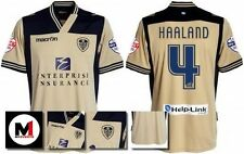 *13 / 14 - MACRON ; LEEDS UTD AWAY SHIRT SS + ARM PATCHES / HAALAND 4 = SIZE*