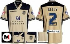 *13 / 14 - MACRON ; LEEDS UTD AWAY SHIRT SS + ARM PATCHES / KELLY 2 = SIZE*