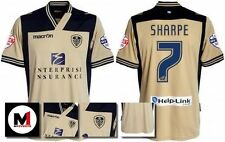 *13 / 14 - MACRON ; LEEDS UTD AWAY SHIRT SS + ARM PATCHES / SHARPE 7 = SIZE*