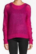 360 Sweater Hannah Fuchsia crochet pink round mohair knitted Top Designer NEW