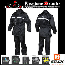 tuta antipioggia hevik hrs102 dry light rain suit nero by givi kappa
