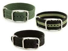 One-Piece Nato Watch Strap Band Army Nylon Diver MoD G10 18 20 22 Military MM