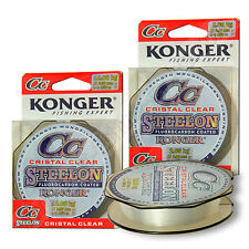 Fluorocarbon Coated Fishing Mono Line Invisible Clear Carp Perch Pike Drop Shot