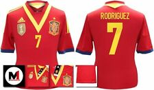 *13 / 14 - ADIDAS ; SPAIN HOME SHIRT SS / RODRIGUEZ 7 = SIZE*