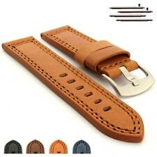 Genuine Leather Watch Strap Band CONSTANTINE Pan. Style SS. Buckle Spring Bars