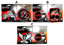 Emily The Strange Badge / Patch Pack Three Styles New Dark Emo Goth Free Postage