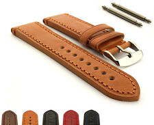 Men's Genuine Leather Watch Strap Band Grand Catalonia Ss. Buckle Spring Bars