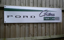 Lotus / Ford Cortina Twin Cam pvc banner for workshop or garage etc