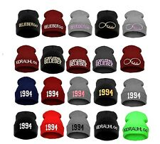 Winter Wool BEANIE HAT Justin born 1994 COLORS NEW SNAP BACK HATS LA SKI Baggy