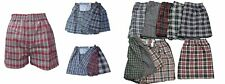 6 PAIRS MENS LOOSE FIT BOXER SHORTS SIZE SM MED  LARGE. XL. 2XL 3XL 4XL 5XL