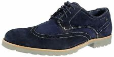 Rockport Mens K73347 Navy suede leather lace up brogue smart shoes