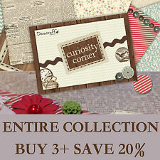 Curiosity Corner Collection ALL CRAFT PRODUCTS: Papers, Stamps + Embellishments!
