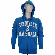 Franklin & Marshall Zip Up Arch Logo Aster Blue Hoodie