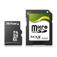 32GB Micro SD SDHC MaxRam Memory Card + SD Adapter FOR Pantech PG-3500 & more