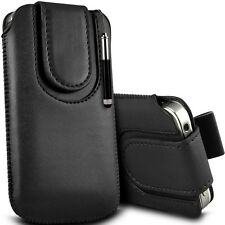 Case for Apple iphone 5,PU Leather Pull tab Pouch+Magnetic flip strap+stylus (L)