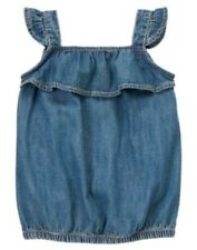 GYMBOREE TEA TIME AFTERNOON CHAMBRAY FLUTTER TOP 10 NWT