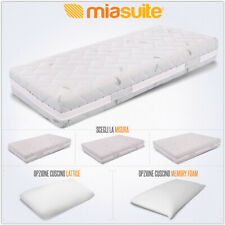 MATERASSO MARGOT SFODERABILE H 25 MEMORY + WATERFOAM + LATTICE TESSUTO ALOE VERA