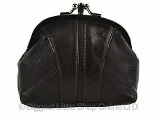 NEW Soft Leather Ladies Studded Clasp Purse Coin Purse Traditional Handy Gift