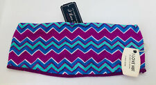 Forever 21 F21 ZigZag Purple Blue Print Festival Bandeau Summer Top BNWT UK S M