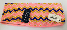 Forever 21 F21 ZigZag Pink Orange Purple Print Festival Bandeau Top BNWT UK M