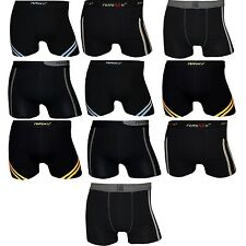 REMIXX 10er Pack Boxershorts Mix Stretch Baumwolle Retro Shorts Schwarz oder Mix