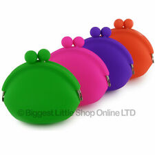 NEW Soft Silicone Clasp Purse Coin Purse Funky Handy Gift Night Out Smooth