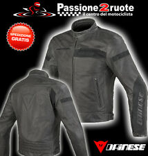 Giacca pelle Dainese Stripes evo nero black moto leather jacket