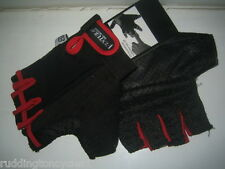 Gel Cycle Cycling Bike Half finger Mitts Gloves Xtra Large Red / Black All Sizes