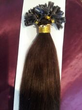 "20""NAIL TIP/U TIP 1G #2 5Agrade HUMAN HAIR EXTENSIONS 1 G STRAIGHT REMY 18"" 22"""
