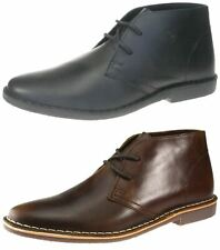 Red Tape Gobi Real Leather Lace Up Desert Chelsea Boots