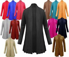 LADIES WOMENS LONG SLEEVES CABLE KNIT KNITTED BOYFRIEND JUMPER CARDIGAN TOP 8-14