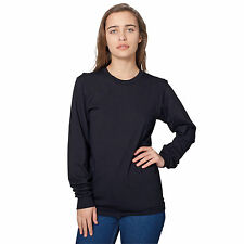 American apparel Unisex Fine Jersey Long Sleeve Shirt Baseball Raglan AA010 New