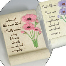 Flower Scroll Memorial Ornament (Mum, Dad, Sadly missed)