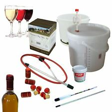 Wine Making Kit Full Starter 6 Bottles 4.5L Red White Rose Complete HomeBrew Set