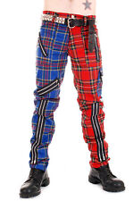 Tiger of London Split Leg Bondage Pants Punk Red/Blue