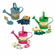 Little Pals Children's Watering Can Kit Gardening Gloves Trowel, Age 3+