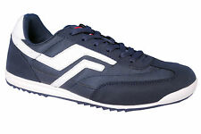F-SPORTS BRAND NEW MENS RETRO NAVY WHITE CASUAL FLAT SPORTS SHOES SALE