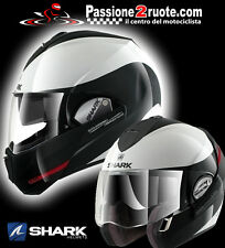 Casco Shark Evoline 3 Hakka white red black helmet casque capacete modularhelm