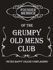 GRUMPY OLD MEN'S CLUB SIGN VINTAGE RETRO S,M,L,STEEL WALL PLAQUE METAL TIN SIGN